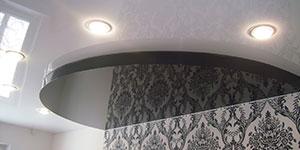 Цены на двухуровневые натяжные потолки